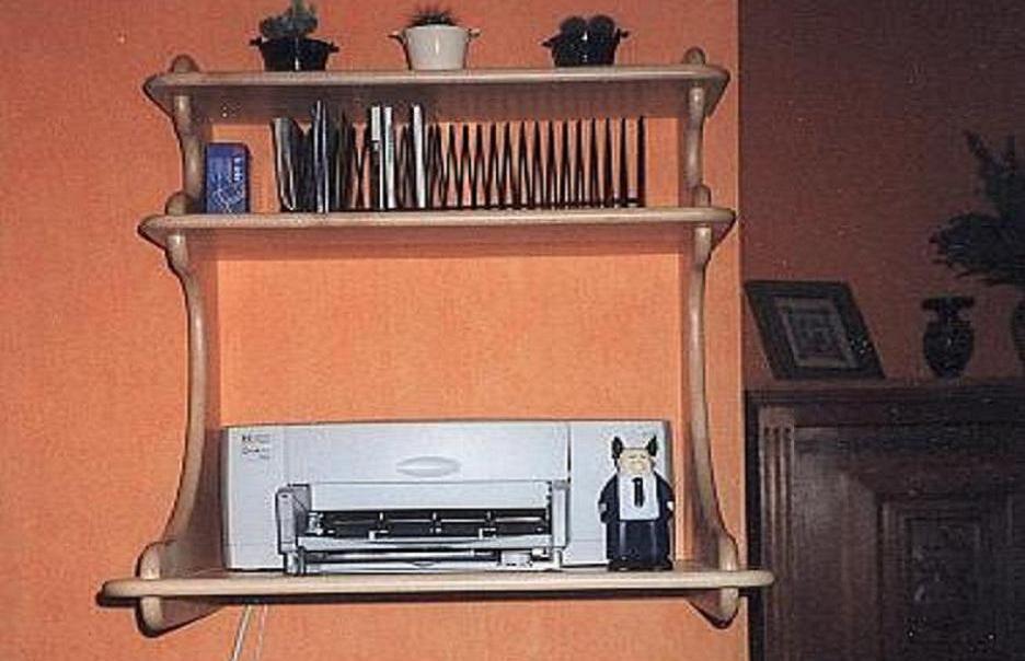 support pour imprimante. Black Bedroom Furniture Sets. Home Design Ideas