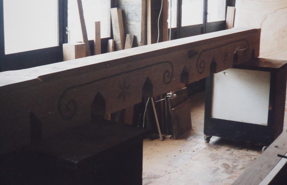 poutre en chene massif 300 x 300 mm. Black Bedroom Furniture Sets. Home Design Ideas
