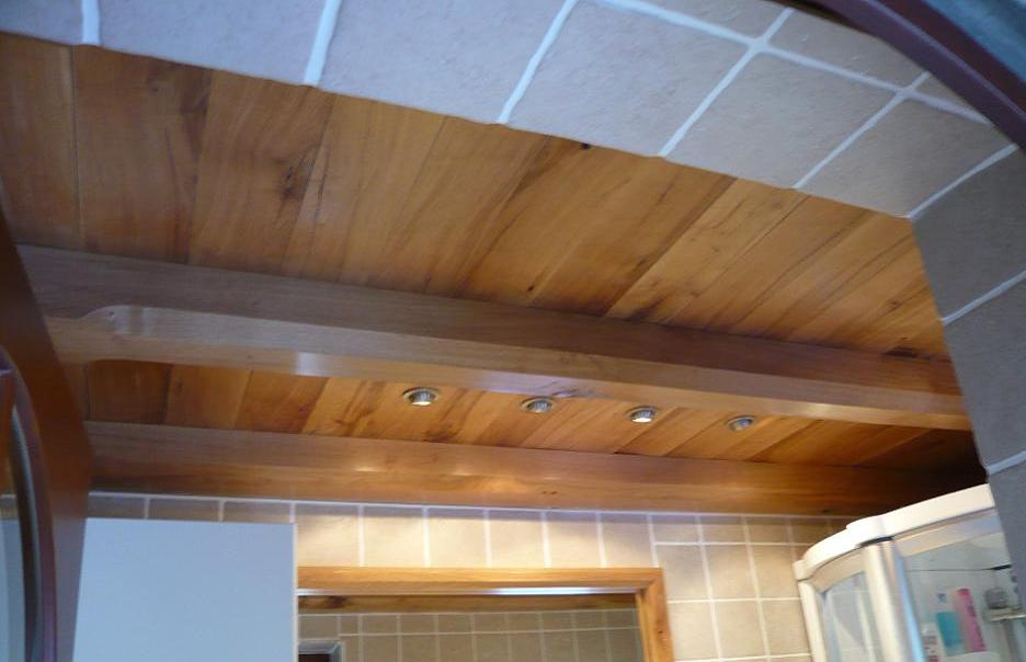 faux plafond chene rustique naturel. Black Bedroom Furniture Sets. Home Design Ideas