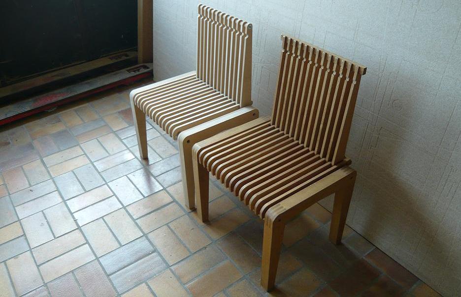 Prototype d 39 une chaise en mdf for Assemblage meuble mdf